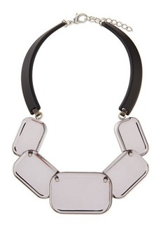 Lafayette 148 New York Lucite Geometric Necklace