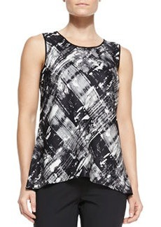 Lafayette 148 New York Lucy Jersey Printed Sleeveless Top