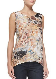 Lafayette 148 New York Lucy Sleeveless Printed Top