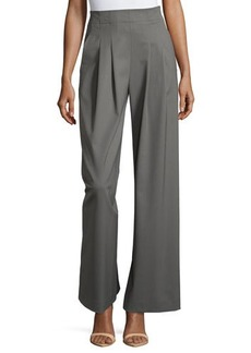 Lafayette 148 New York Ludlow Pleated Wide-Leg Pants