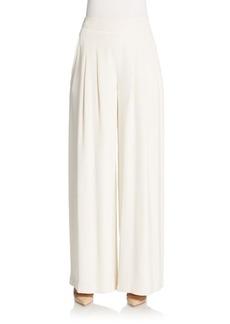 Lafayette 148 New York Ludlow Wide Leg Silk Trousers