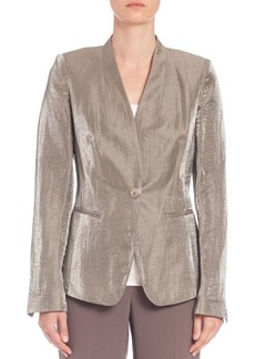 Lafayette 148 New York Luminescent Linen Clary Jacket