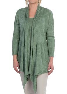 Lafayette 148 New York Lustrous Linen Cardigan Sweater - 3/4 Sleeve (For Women)