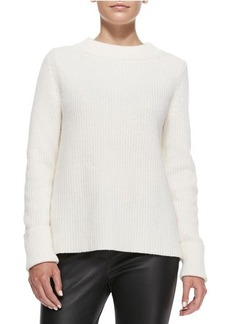 Lafayette 148 New York Luxe Merino-Cashmere Ribbed Sweater