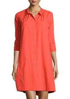 Lafayette 148 New York Lynley 3/4-Sleeve Shirtdress, Begonia