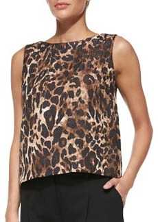 Lafayette 148 New York Maddie Leopard-Print Top