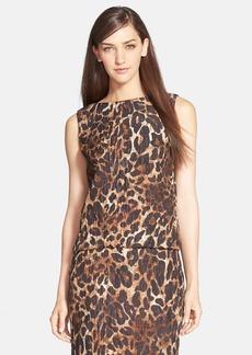 Lafayette 148 New York 'Maddie' Leopard Print Top