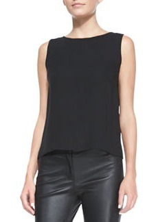 Lafayette 148 New York Maddie Silk Sleeveless Top