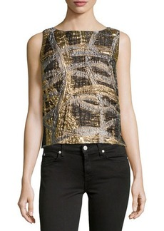 Lafayette 148 New York Maddie Sleeveless Brocade Top
