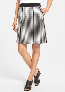 Lafayette 148 New York 'Madeline' Houndstooth A-Line Skirt