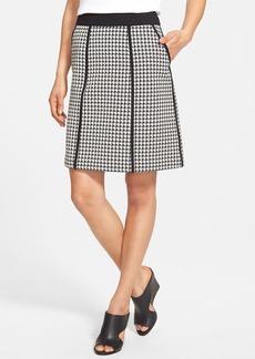 Lafayette 148 New York 'Madeline' Houndstooth A-Line Skirt