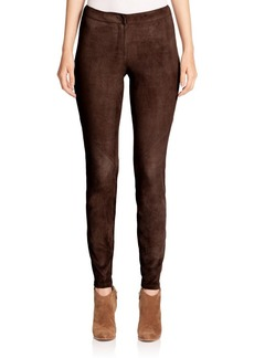 Lafayette 148 New York Magic Stretch Suede Slim Pants