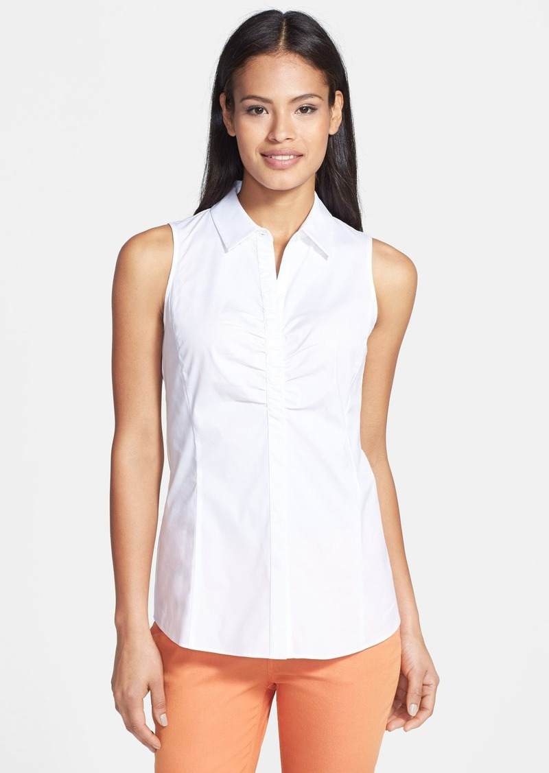 Lafayette 148 New York 'Maki - Excursion Stretch' Sleeveless Shirt