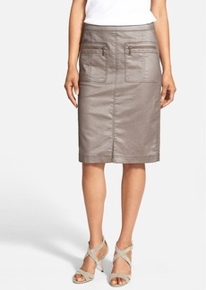 Lafayette 148 New York 'Marge' Frosted Denim Skirt