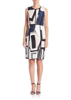 Lafayette 148 New York Mariana Printed Jacquard Dress