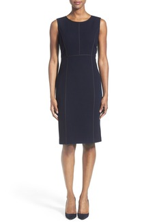 Lafayette 148 New York 'Mariana' Wool Crepe Sheath Dress