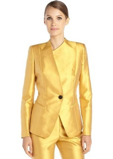 Lafayette 148 New York marigold cotton and silk woven 'Bridgette' jacket