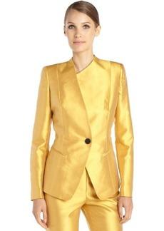 Lafayette 148 New York marigold cotton and silk woven 'Bridgette' jacket