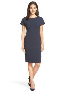 Lafayette 148 New York 'Marion' Cap Sleeve CrepeSheath Dress