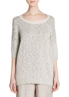Lafayette 148 New York Marled Scoopneck Sweater