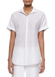 Lafayette 148 New York Marlis Short-Sleeve Top