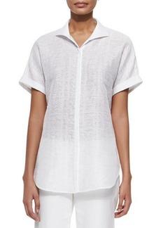 Lafayette 148 New York Marlis Short-Sleeve Top