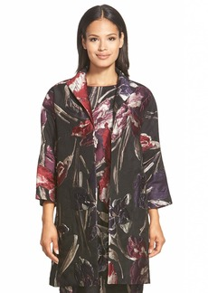 Lafayette 148 New York 'Mary' Floral Jacquard Topper