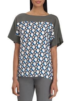 Lafayette 148 New York Maryanne Hexagon-Print Top