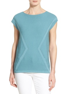 Lafayette 148 New York 'Matte Crepe' Mix Stitch Sweater