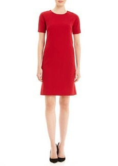 Lafayette 148 New York McKayla Shift Dress with Textured Stripes on Shoulders