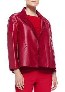 Lafayette 148 New York McKenna Lambskin Leather Topper Jacket