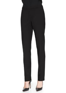 Lafayette 148 New York Melange Wool-Stretch Pants, Black