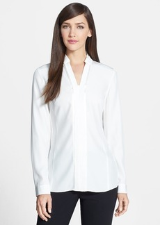 Lafayette 148 New York 'Mellie' Matte Silk Blouse
