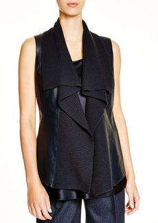 Lafayette 148 New York Melosa Mixed Media Vest - Bloomingdale's Exclusive
