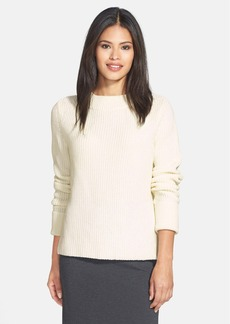 Lafayette 148 New York Merino & Cashmere Ribbed Sweater