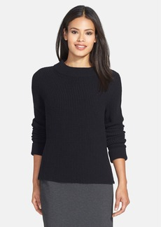 Lafayette 148 New York Merino & Cashmere Ribbed Sweater