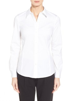 Lafayette 148 New York 'Merite' Stretch Cotton Blend Blouse