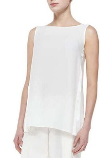 Lafayette 148 New York Merryn Sleeveless Silk Blouse