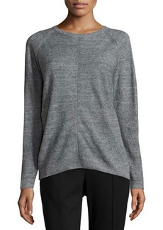 Lafayette 148 New York Mesh-Seam Raglan Sweater