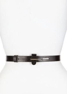 Lafayette 148 New York Metal-Clasp Leather Belt