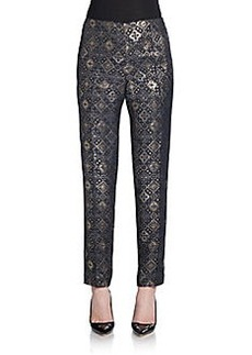 Lafayette 148 New York Metallic Brocade Slim Pants
