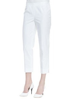 Lafayette 148 New York Metro Stretch Bleecker Cropped Pants, White