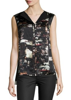 Lafayette 148 New York Metropolitan City Sleeveless Blouse