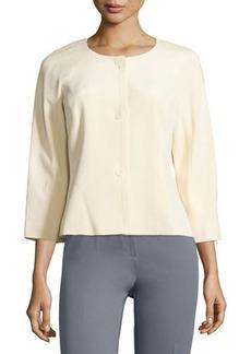 Lafayette 148 New York Mia Silk Three-Button Jacket
