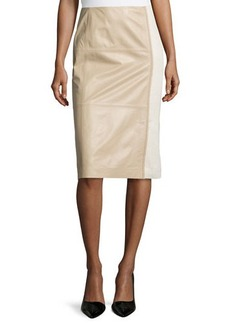 Lafayette 148 New York Midi-Length Combo Pencil Skirt