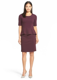 Lafayette 148 New York Milano Knit Mock Two-Piece Dress (Regular & Petite)