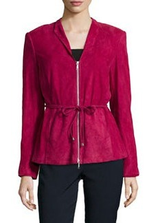 Lafayette 148 New York Miles Suede Belted Jacket