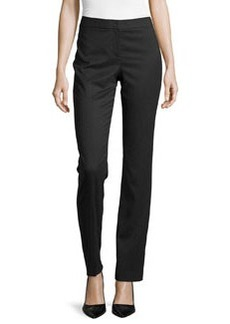 Lafayette 148 New York Mini Dot-Print Slim-Leg Trousers, Black/White