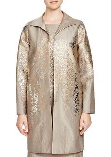 Lafayette 148 New York Mirella Metallic Floral Jacket