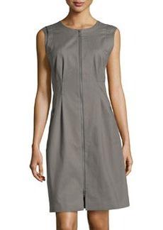 Lafayette 148 New York Misti Zip-Front Dress, Shale